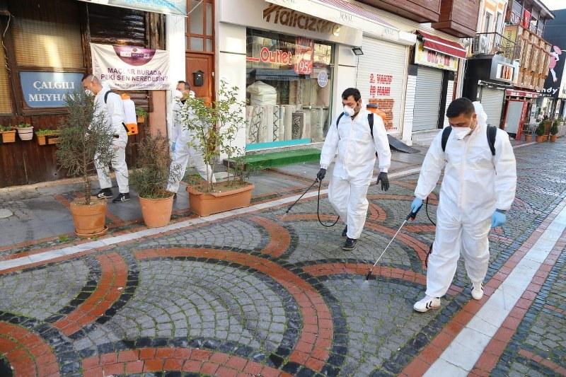 Belediyeden her yere dezenfekte